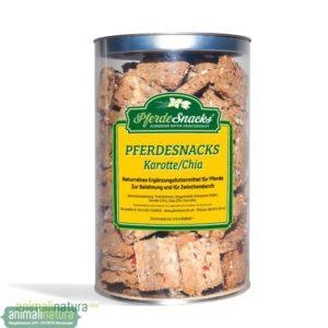 PferdeSnacks Karotte-Chia - Ihr Pferd wird unsere neue aromatische Sorte geniessen!